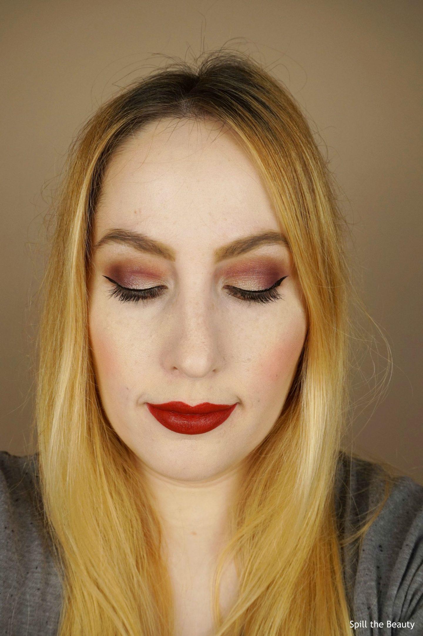 fotd make up for ever lustrous shadow palette