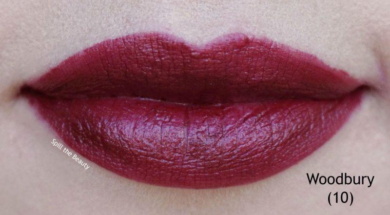 lip swatch broadway colors matte lip lacquer woodbury 10