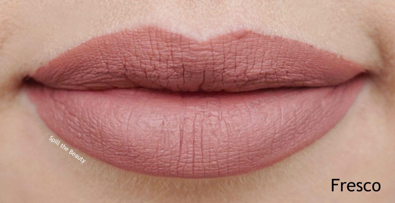 stila stay all day liquid lipstick fresco swatch comparison dupe too faced