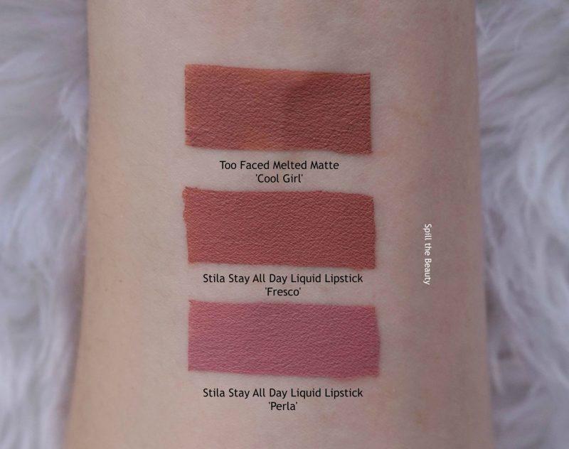 Stila Stay All Day Liquid Lipstick Fresco Comparison