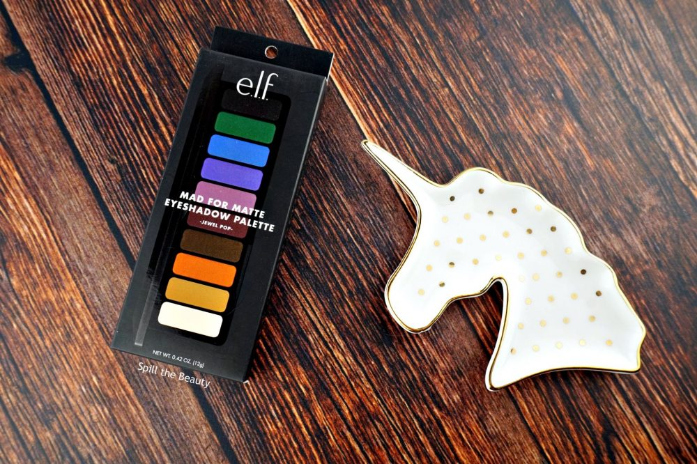 e.l.f. Mad For Matte Eyeshadow Palette 'Jewel Pop' – Review, Swatches, and 2 Looks