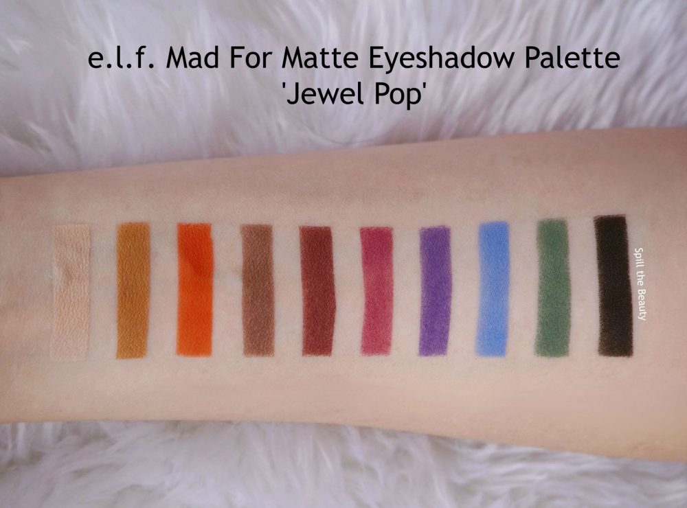 lf mad for matte eyeshadow palette jewel pop review swatches