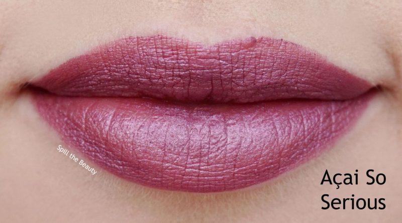 wet n wild liquid catsuit metallic liquid lipstick review swatches acai so serious