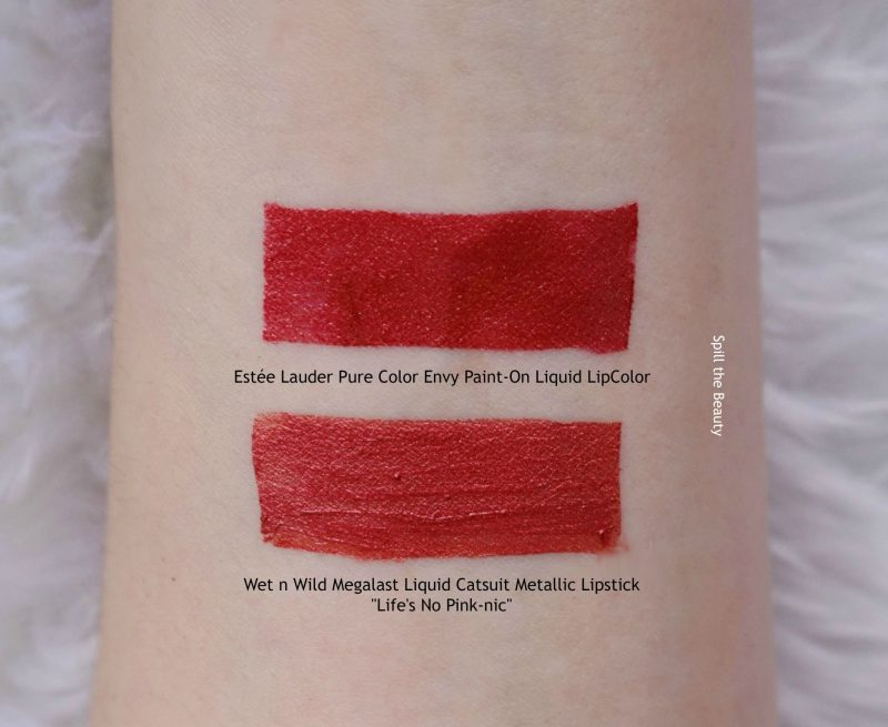 estee lauder pure color envy paint-on liquid lipcolor metallic swatch