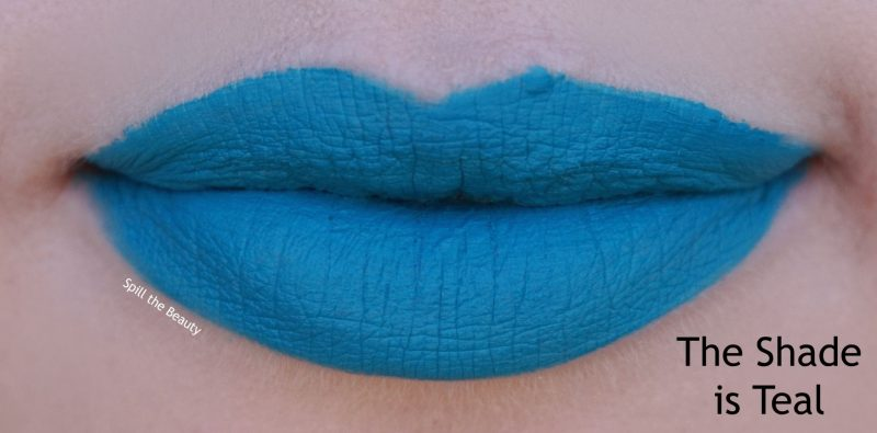wet n wild 2018 megalast liquid catsuit liquid lipstick shades review swatches the shade is teal