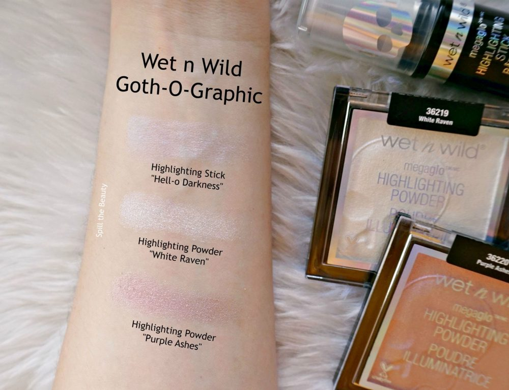Wet N Wild Goth O Graphic Highlighters Review And Swatches