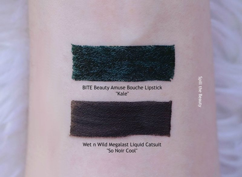 bite beauty amuse bouche lipstick kale swatches comparison black lipstick