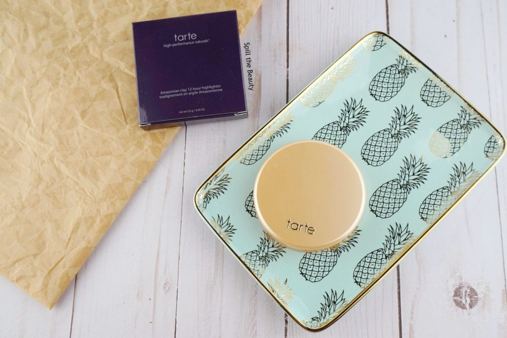 "Tarte Amazonian Clay Highlighter ""Exposed Highlight"" – Review, Swatches and Look"