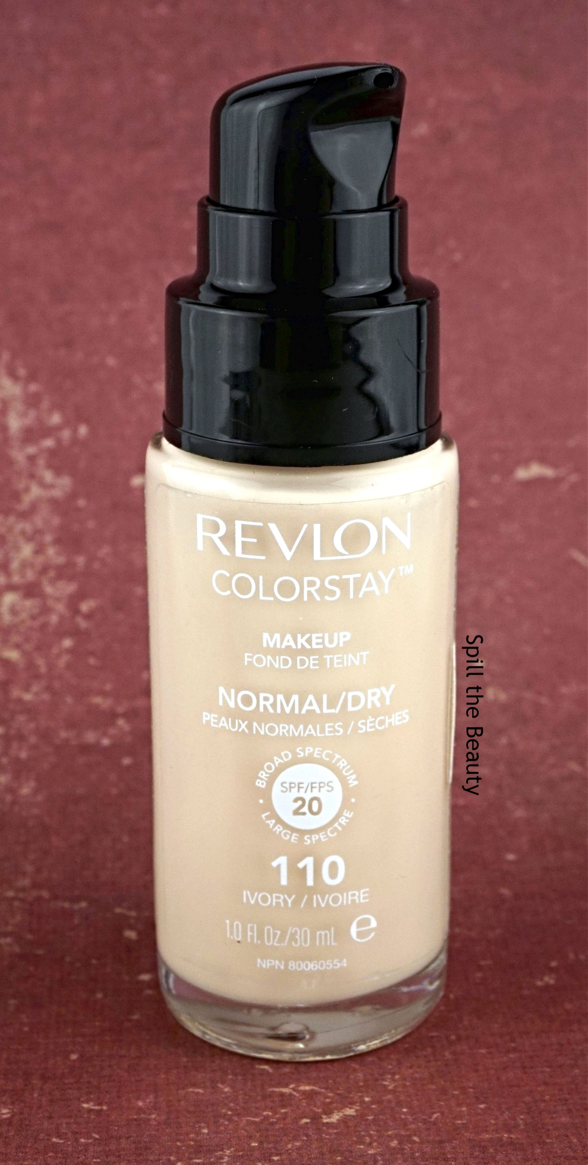 Revlon Colorstay Foundation Normal Dry Review Swatches Before Foundations Ivory 110 And After