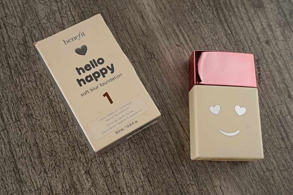 "Benefit ""Hello Happy"" Soft Blur Foundation – Review, Swatches, Before & After"