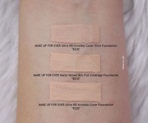 make up for ever matte velvet skin r210 foundation review swatches comparison