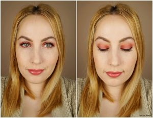 rimmel london crimson edition palette review swatches look