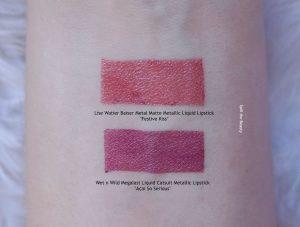lise watier festive kiss metallic liquid lipstick swatch