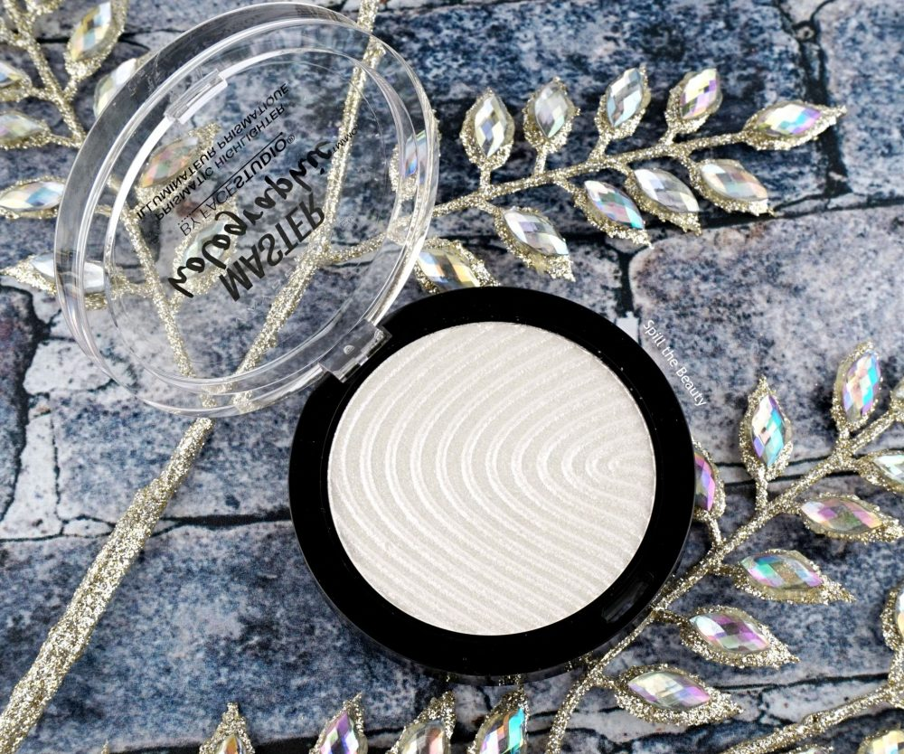 "Maybelline Master Holographic Prismatic Highlighter ""050"" – Review, Swatches and Look"
