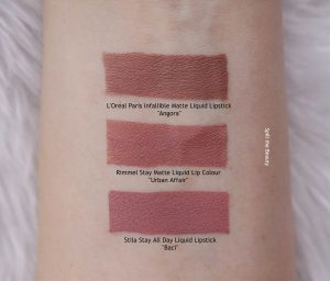 rimmel urban affair liquid lipstick swatches