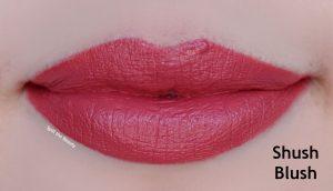 marc jacobs liquid lipstick shush blush swatches comparison dupe
