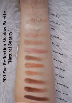 pixi beauty eye reflection shadow palette natural beauty review swatches