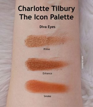 charlotte tilbury the icon palette review swatches looks diva eyes