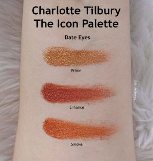 charlotte tilbury the icon palette review swatches looks date eyes