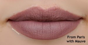 bourjois from paris with mauve lip swatch
