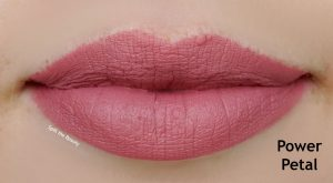 loreal power petal lip swatch