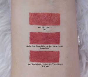 loreal power petal swatches comparison dupe
