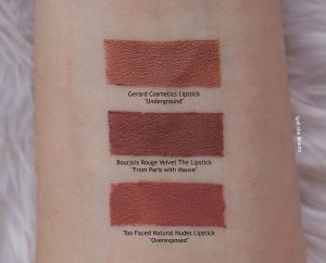 bourjois from paris with mauve lip arm swatches dupe