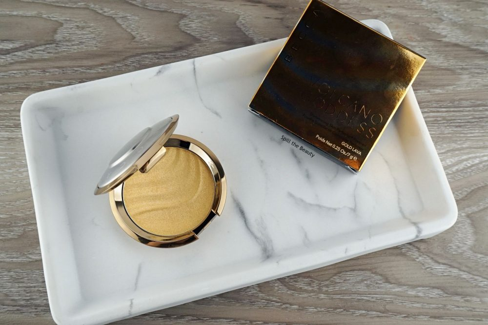 "BECCA Highlighter ""Gold Lava"" – Review, Swatches and Look"
