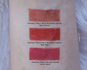 charlotte tilbury rose kiss swatches secret salma very victoria