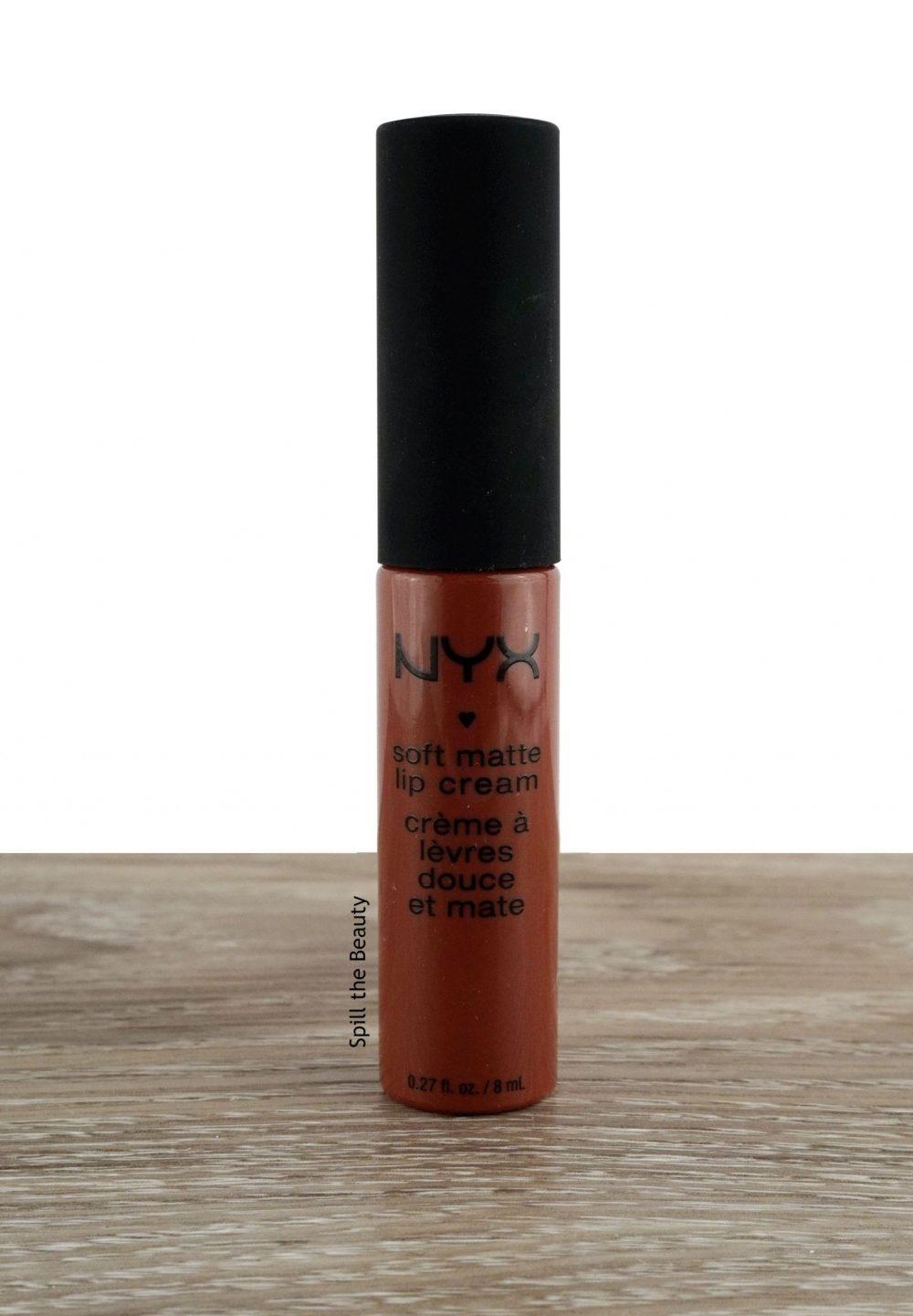 "Lip Swatch Sunday – NYX Soft Matte Lip Cream ""Rome"""