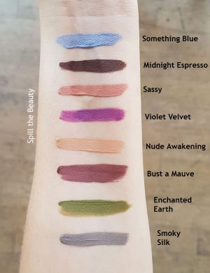 Stila Suede Shade Liquid Eyeshadow swatches