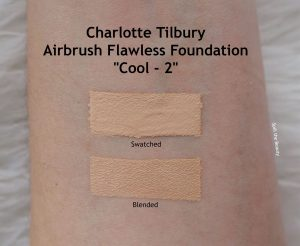 charlotte tilbury airbrush flawless foundation 2 cool review swatches before and after