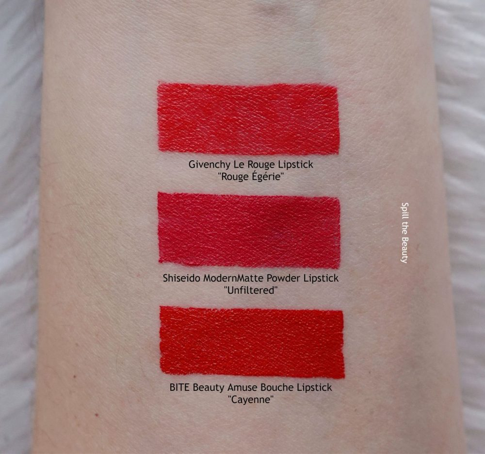 shiseido unfiltered swatches