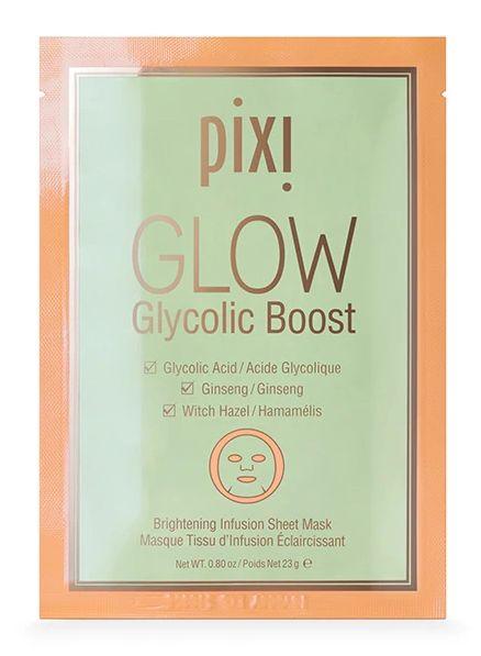 skincare pixi glow gycolic boost sheet mask